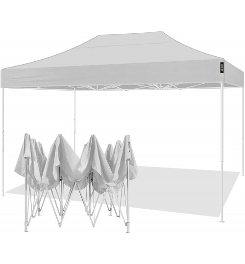AMERICAN PHOENIX Canopy Tent 10x15 Easy Pop Up Instant Portable Event Commercial Fair Shelter Wedding Party Tent (White, 10x15)
