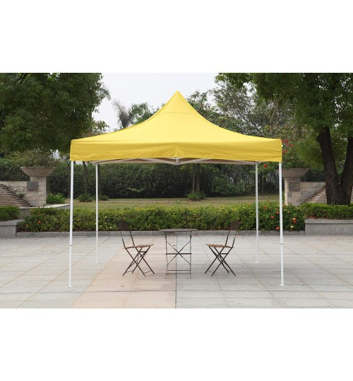 American Phoenix Canopy Tent 10x10 Easy Pop Up Instant Portable Event Commercial Fair Shelter Wedding Party Tent (Yellow, 10x10)