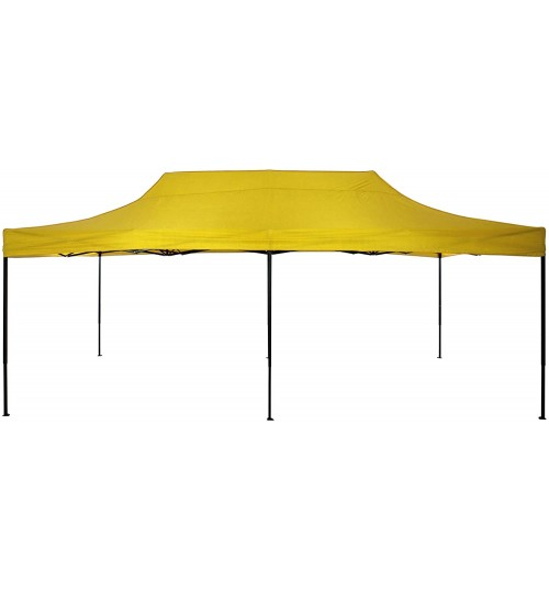 American Phoenix 10x20 Canopy Tent Pop Up Portable Instant Commercial Tent Heavy Duty Outdoor Market Shelter (10'x20' (Black Frame), Yellow)