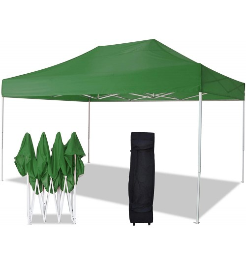 AMERICAN PHOENIX Canopy Tent 10x15 Easy Pop Up Instant Portable Event Commercial Shelter Wedding Party Tent with Carrying Bag (Green, 10x15)