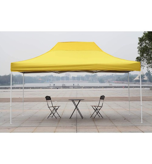 AMERICAN PHOENIX Canopy Tent 10x15 Easy Pop Up Instant Portable Event Commercial Fair Shelter Wedding Party Tent (Yellow, 10x15)
