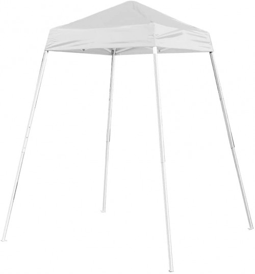 American Phoenix 5x5 Multi Color [Slant Leg][White Frame ] Light Weight Portable Event Canopy Tent. Shade Commercial Party Canopy Tent Easy Pop Up (White)