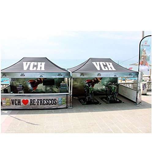 "American Phoenix 10""x10"" Digital Graphics Logo Printed Custom Event Easy Pop Up Canopy Tent+ Printed Custom Side Wall available (Black Frame, 10""x10"" Canopy with 1 sidewall)"